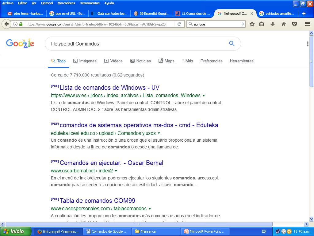 comandos de google importantes para seo