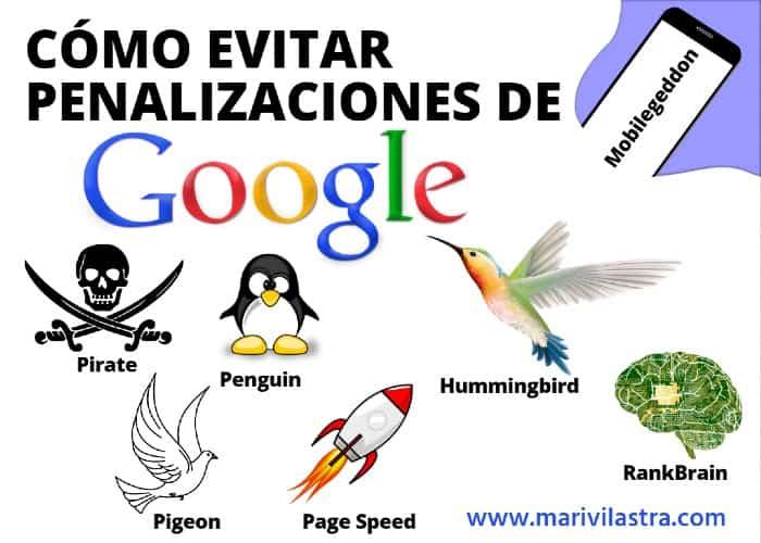 Cómo evitar penalizaciones de google